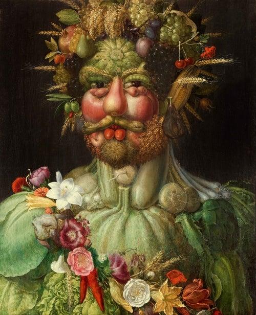 ジュゼッペ・アルチンボルド《ウェルトゥムヌスとしての皇帝ルドルフ2世像》