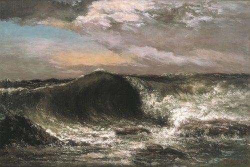 ギュスターヴ・クールベ《波》