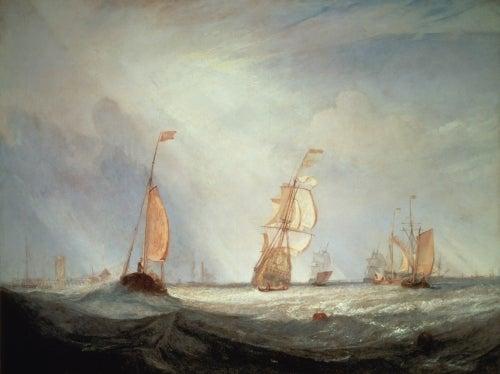 ターナー《ヘレヴーツリュイスから出航するユトレヒトシティ64号》