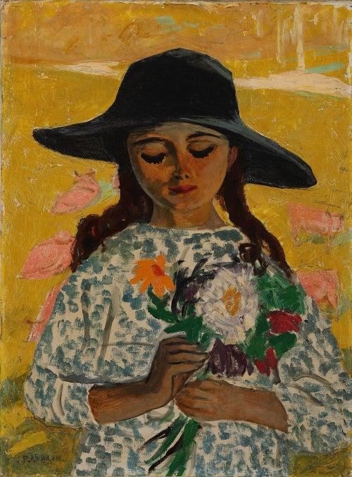 ジュール・フランドラン《花を持つ少女》